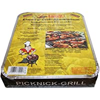 Alschuh Disposable Barbecue Approx. 600g, Charcoal and Briquettes