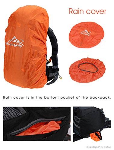 BestWahl Wanderrucksack Rucksack Trekkingrucksack Damen Herren Orange