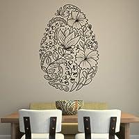 Floreale di Pasqua Uovo di Pasqua decorativi Wall Stickers Stagionale Home Decor Art Stickers disponibile in 5 dimensioni e 25 colori Extra Grande Verde muschio