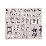 ECMQS Little Boy DIY Transparente Briefmarke, Silikon Stempel Set, Clear Stamps, Schneiden Schablonen, Bastelei Scrapbooking-Werkzeug