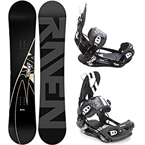 Raven Snowboard Set: Snowboard Element Carbon 2020 + Bindung Fastec FT500