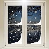 Ventana nieve esquinas de Navidad y copos de nieve pegatina, blanco, Vinilo autoadhesivo. Para casa o tienda, paredes o ventanas.