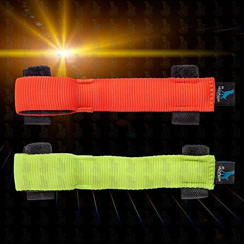 Led Leuchtcover Leuchthalsband LH3 für Hundehalsband Leuchtanhänger von Leuchthund® (neonorange)