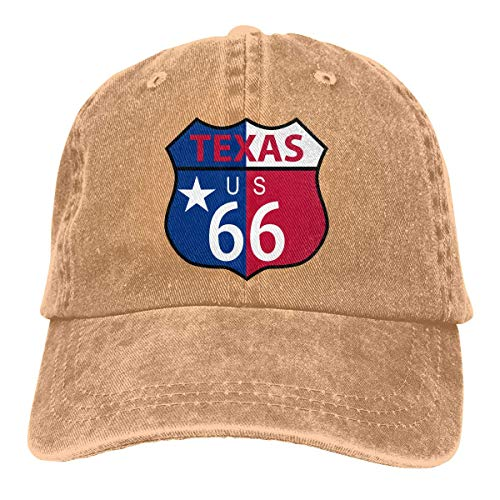 e50a75344cf57 TEPEED Texas Version of The Route 66 Shield US Flag Unisex Baseball Cap  Cowboy Hat Dad
