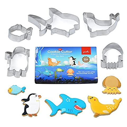 Not Only Cookie Cutters~Interact and Learn knowledge~Antarctic ecosystem sea animals - Multi-purpose Food Grade Stainless (Divertimento Cookie Cutters)