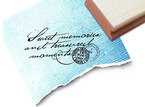 Stempel - Textstempel VINTAGE ÉCRITURE VI mit französischem Poststempel - Eleganter Schriftstempel für Ihr eigenes Design im Shabby chic style - Typostempel von zAcheR-fineT