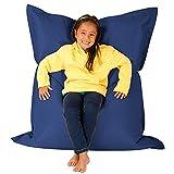 Hi Kids Bagz 4-Wege-Liege Outdoor Boden cushion-100% wasserabweisend Kinder Sitzsäcke, Polyurethan, marine, 125x 100x 20cm