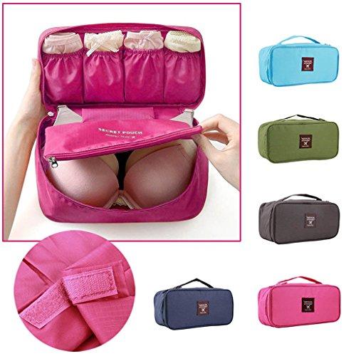 Tragbare Unterwäsche BH Kosmetischer Spielraumaufbewahrungstasche Dunkelblau