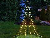 Lichterpyramide mit 200 LEDs, Garten Weihnachtsbeleuchtung, LED Lichterkette Weihnachtsbaum