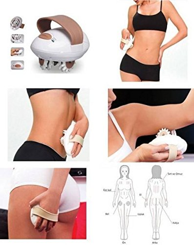 DEALCROX 3D Body Slimmer Vibrate Massage Roller Anti Cellulite Weight Loss Machine, Brown