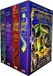 Land of Stories Chris Colfer Collection 4 Books Set (Wishing Spell, Grim Warning, Enchantress Returns)