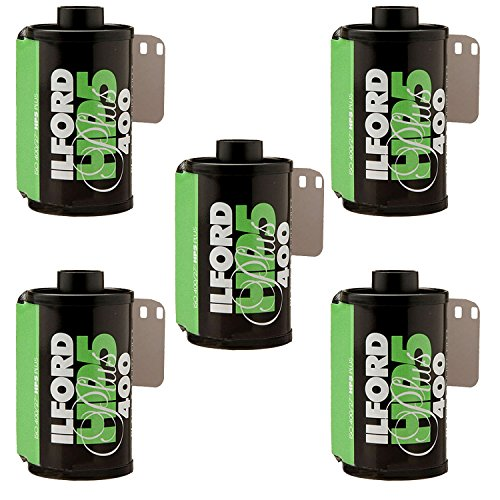 Ilford HP5 Plus 1700646 Druckfolie, 135 (35 mm), ISO 400, 24 Belichtungen, 5 Stück (5 Schwarze Und Weiße 400 Film)