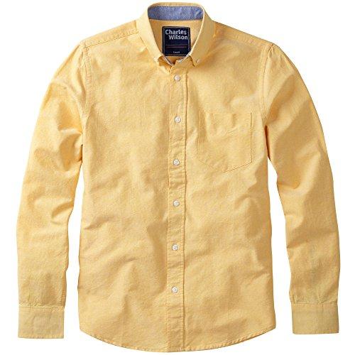 Charles Wilson Langärmliges Oxford Freizeithemd Gelb