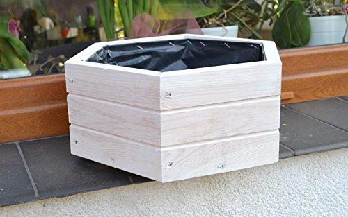 NEU Pflanzkasten aus Holz TOP Pflanzkübel Garten Terrasse fertig montiert D5 Weiss | Garten > Pflanzen > Pflanzkästen | Holz | FK-Lampem