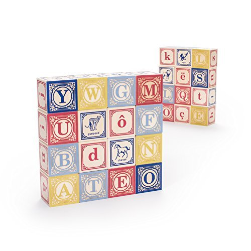 Uncle Goose French ABC Blocks - Made in USA by Uncle Goose