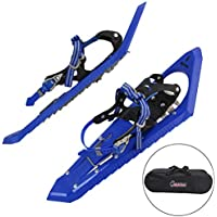 ALPIDEX Snowshoes with climbing aid, biting front spikes and incl. carrying bag - suitable for shoe sizes 35 to 45; available with or without poles