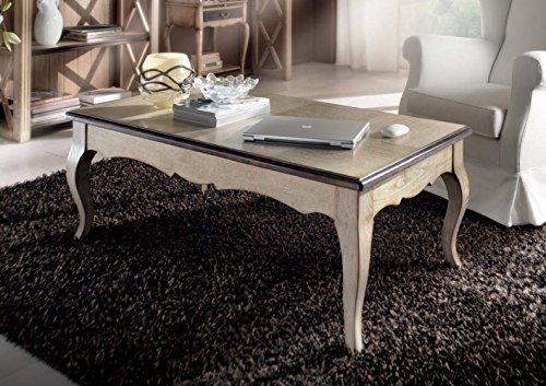 Table basse rectangulaire en frêne avec plateau relevable.