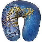 Marlon Kitty Schiuma di Memoria del Cuscino da Viaggio del Cuscino da Viaggio a Forma di U del Simbolo dell'astrologia dell'oroscopo del Cancro per Il Viaggio degli Adulti