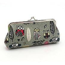 LHWY Las Mujeres De SeñOra Retro Vintage Owl PequeñA Carpeta Hasp Bolso Clutch Bag