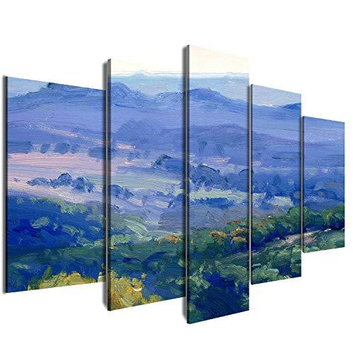 KWYJ® - Cuadro decorativo de estilo japonés, 50 x 100 cm y 80 x 150 cm, lona, 25#, Small