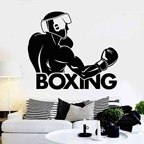 Boxhandschuh Aufkleber Kick Boxer Spiel Auto Aufkleber Free Combat Poster Vinyl Stürmer Wandtattoos Wand 58x67 cm