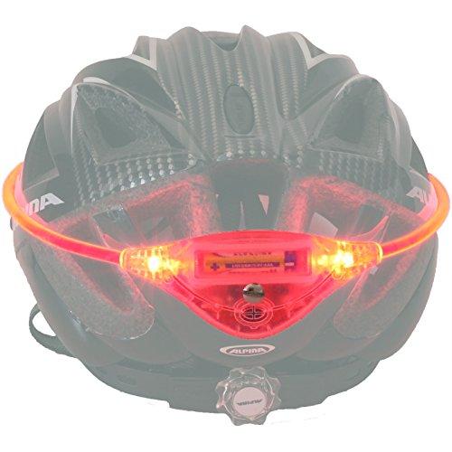 Fahrradhelm LED Sicherheitslicht rot, universell, Leuchtband Helmlicht Helmlampe