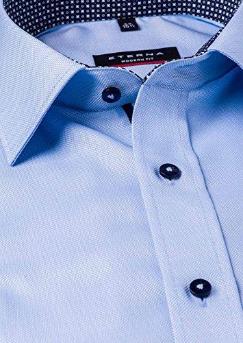 Eterna Herren Hemd Modern Fit Langarm Hellblau