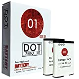 #7: 2x DOT-01 Brand 2350 mAh Replacement Nikon EN-EL23 Batteries for Nikon Coolpix P900