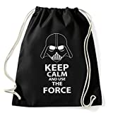 Art T-shirt, Zaino Sacca Use The Force, Nero