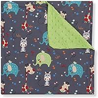 Manta de bebé interbaby jirafas color verde pistacho