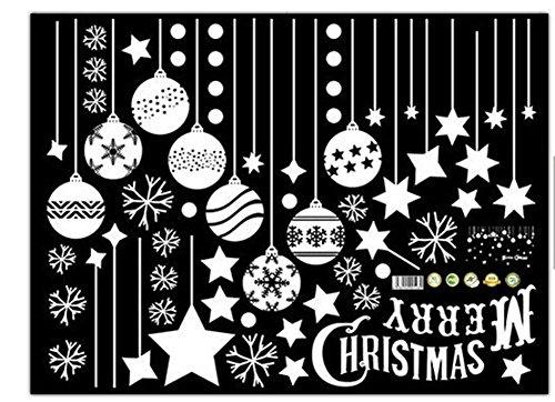 Emwel 2 Pack Wall sticker adesivo Christmas vetrofania vetrina negozi parete muro Natale