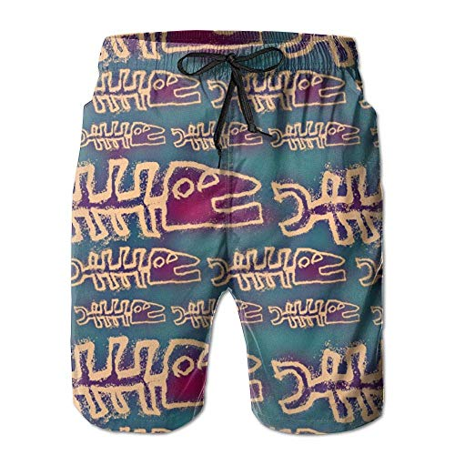 593bb173ec odin sky Pantalones Cortos de Tabla Impresa de Secado rápido para Hombre  Slim Fit Trajes de