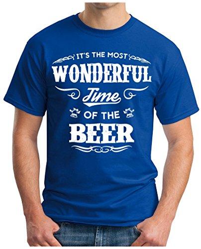 OM3 - WONDERFUL-BEER - T-Shirt GEEK, S - 5XL Royalblau
