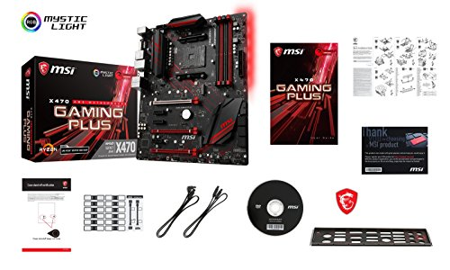 MSI X470 Gaming Plus Performance Gaming AMD X470 Ryzen 2 AM4 DDR4 ATX Motherboard