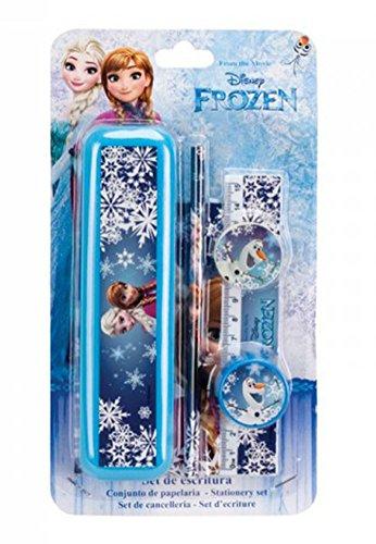 Disney Frozen Il Regno Di Ghiaccio-Set per scrittura con portamatite in metallo