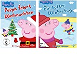Peppa Pig - Ein kalter Wintertag + feiert Weihnachten-2 DVDs-SET