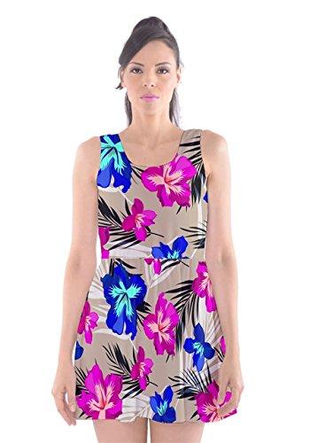 CowCow - Robe - Femme Pink Hawaii Stripe blue magenta