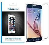 Samsung Galaxy S6 Panzerglas Schutzfolie Tempered Glass Hartglas 9H Härtegrad 0.33mm 2.5D Full HD 99% Ultra-klar [3D Touch Kompatibel] Panzerglasscheibe Panzerglasfolie Displayschutzfolie - ToKa-Versand®