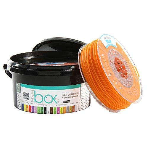 Avistron mini 500gr PLA 1.75mm 3D Drucker Filament Minirollen verschiedene Farben innovative Verpackung (Orange)