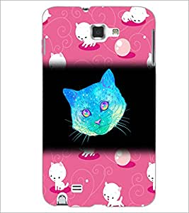 PrintDhaba Kitty D-2861 Back Case Cover for SAMSUNG GALAXY NOTE 1 (Multi-Coloured)