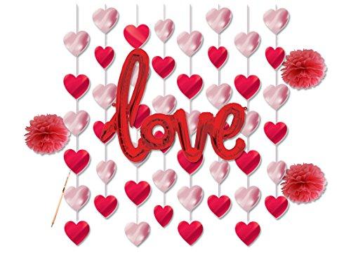 Irpot - set decorazioni addobbi pendenti love festa amore party wedding cuori