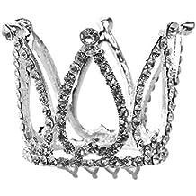 PIXNOR Princesa tiara corona de niña Diadema de cumpleaños Corazón de corona rhinestone Flower Girl Tiara