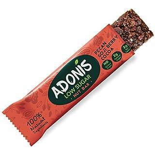 Adonis Low Sugar Snack Pekan Nuss Riegel | 100% Natural, Low Carb, Gluten Free, Vegan, Paleo (5)