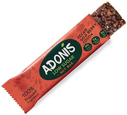 Adonis Low Sugar - Barritas de Pacanas Crujiente Sabor de Cocoa | 100% Natural, Baja en Carbohidratos, Sin Gluten, Vegano, Paleo (10)