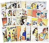 32 Stück 1 Set Vintage Retro Old Cartoon Postkarten Grußkarten Souvenir Geschenke zum Sammeln Poster, NEU