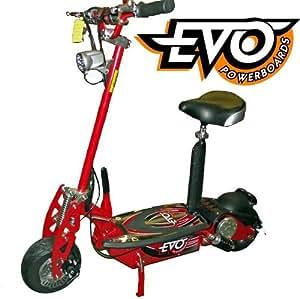 Trottinette électrique 1000W EVO Powerboard, Feux LED, pneus de route, Rouge C920