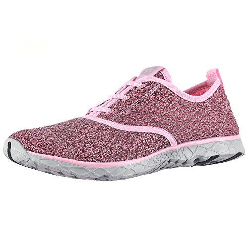 aleader Damen Schnell trocknend Aqua Wasser Schuhe Pink8859A