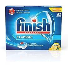Finish Power Detergente Lemon - 3 confezioni da 32 pastiglie [96 pastiglie]