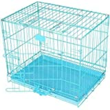Unicorn Dog Cage Sky Blue 18 Inch Iron Cage with Removable Tray for Pupppies, New Born & Rabbit Single Door Very Small Size