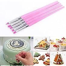 5 x stylo pour colorer pâte à sucre gâteau plume en silicone